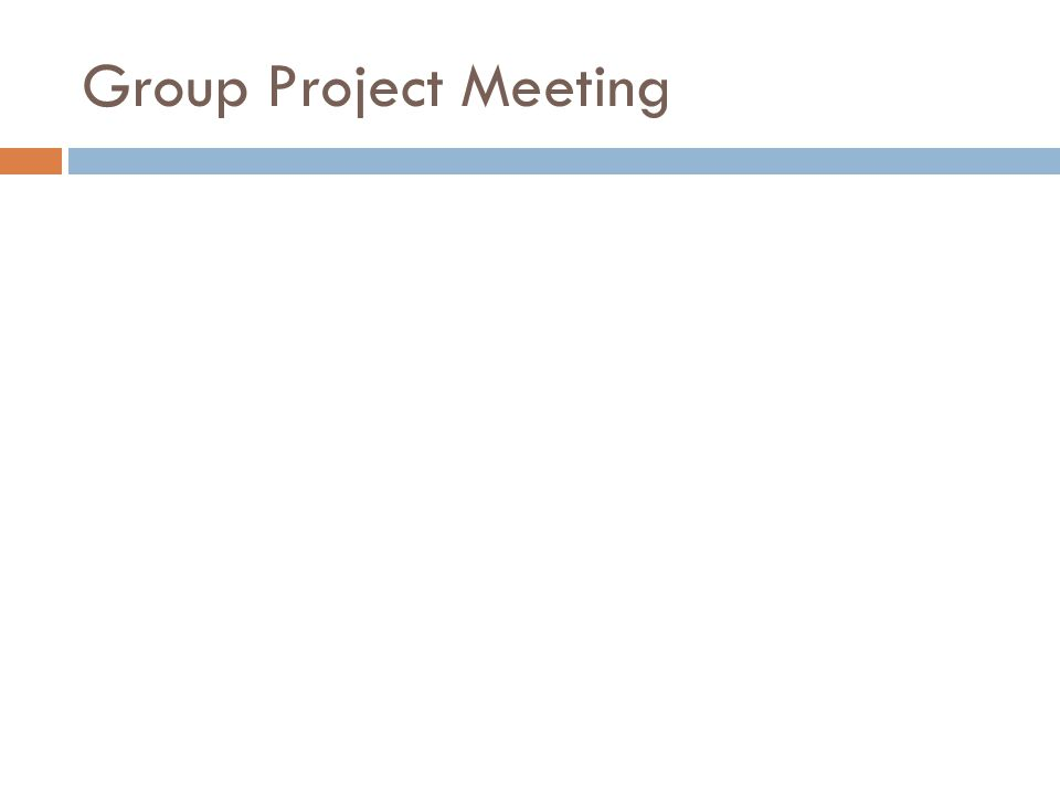 Group Project Meeting