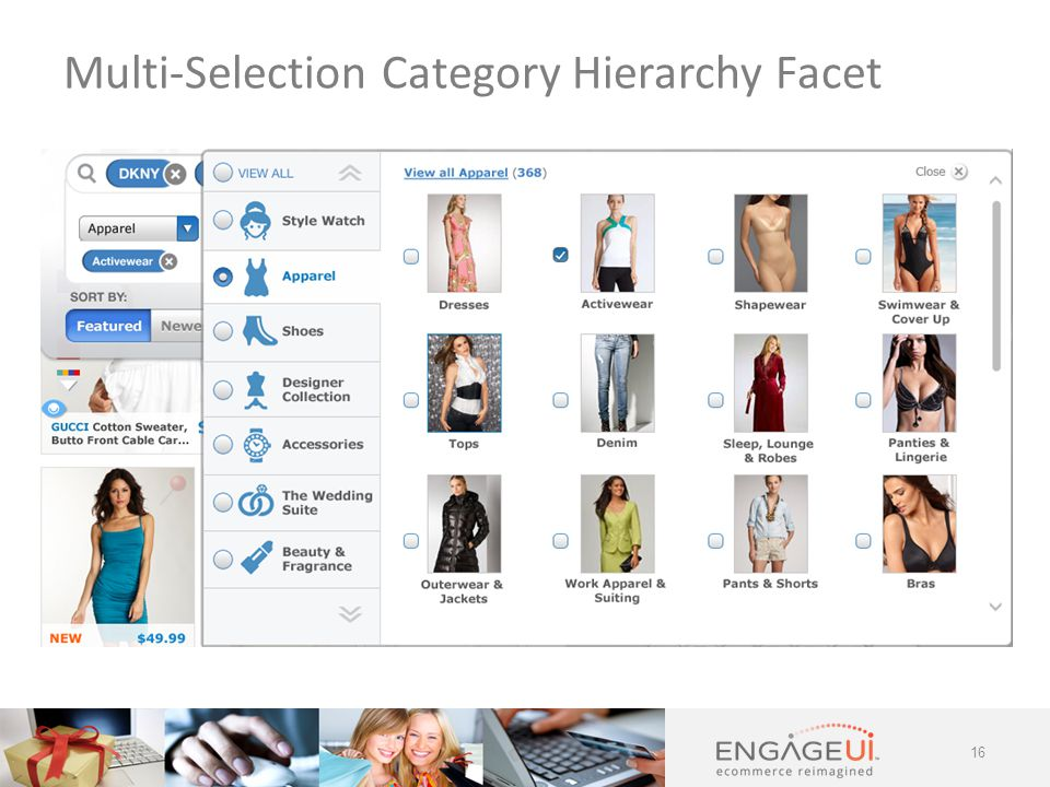 16 Multi-Selection Category Hierarchy Facet