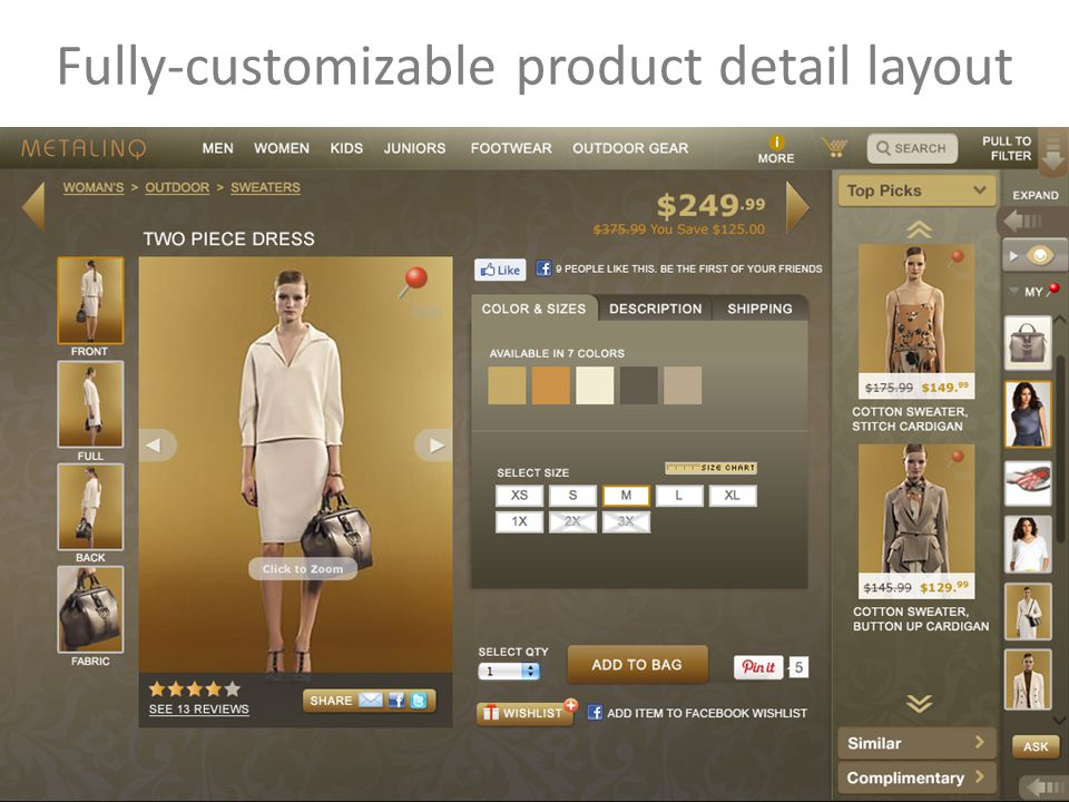 27 Fully-customizable product detail layout