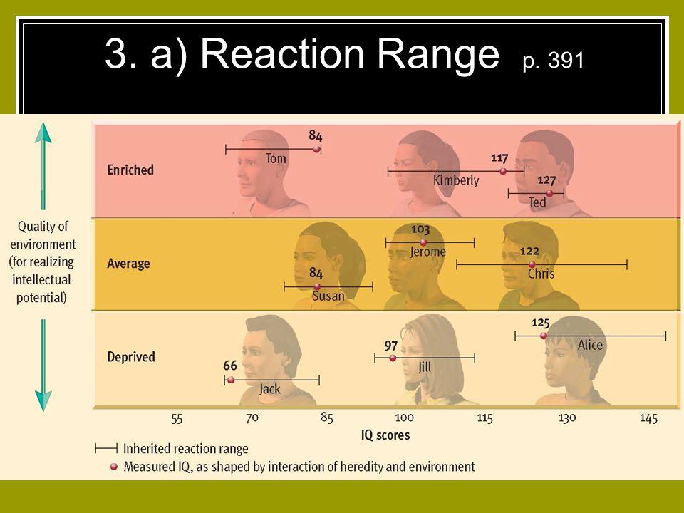 3. a) Reaction Range p. 391