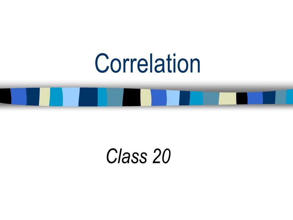 Correlation Class 20