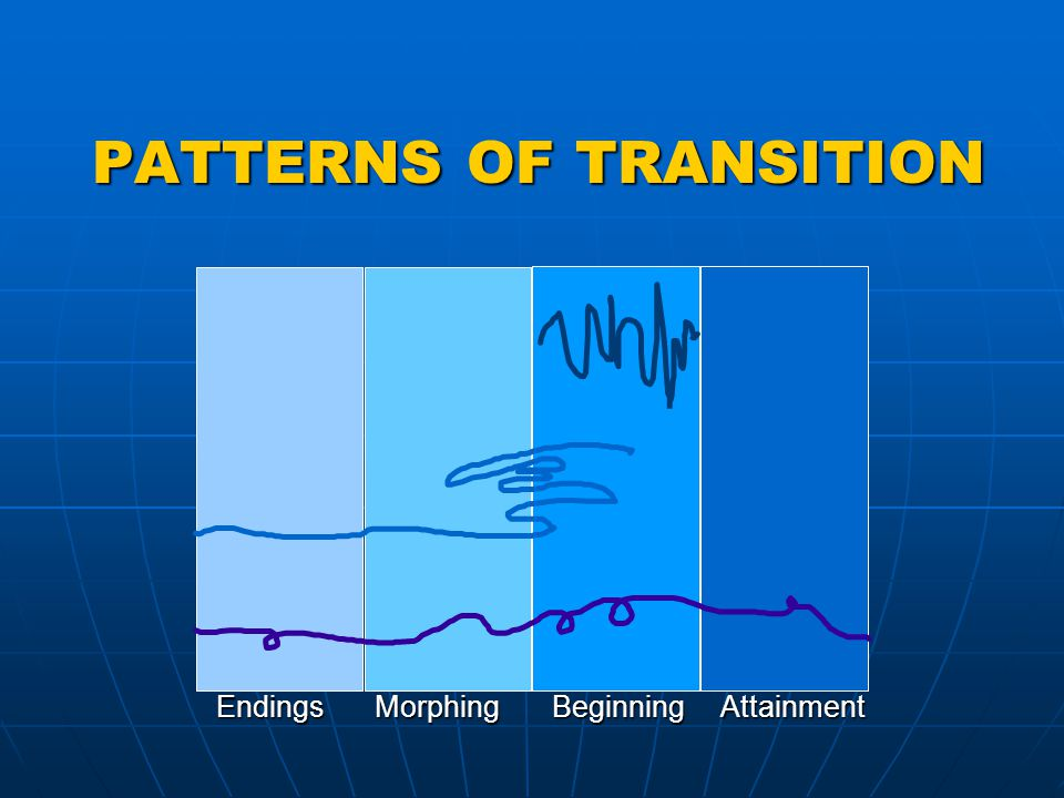 PATTERNS OF TRANSITION PATTERNS OF TRANSITION EndingsMorphingBeginningAttainment