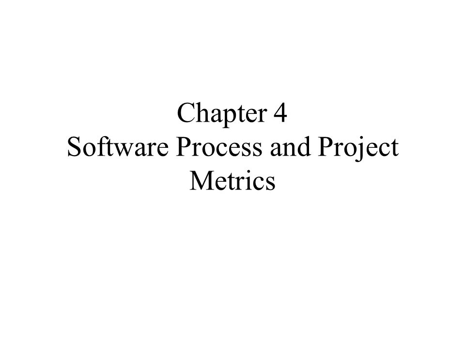 Process Metrics and Software Process Improvement SPPI (cont.): 4.