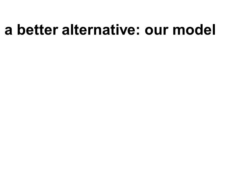 a better alternative: our model