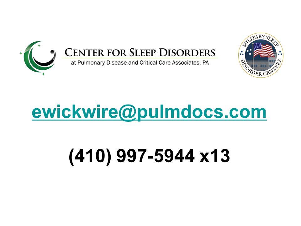ewickwire@pulmdocs.com ewickwire@pulmdocs.com (410) 997-5944 x13