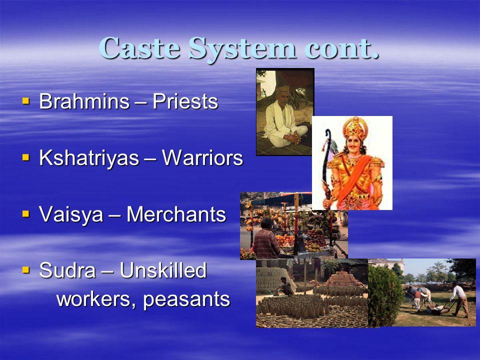 Caste System cont.
