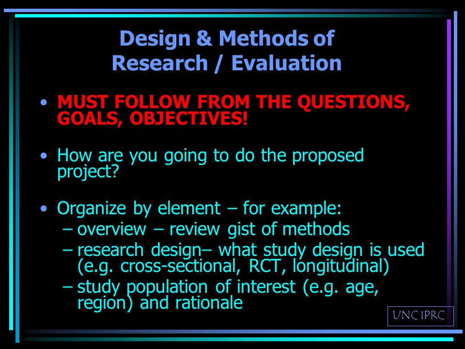 Formative Research What efforts have been made to develop the program/intervention.