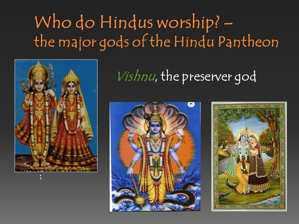 Brahma, the creator god