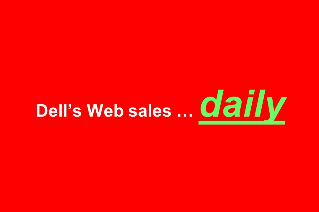 Dell's Web sales … daily