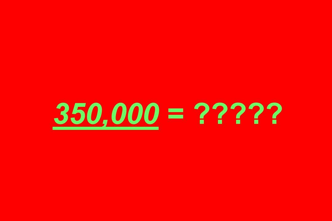 350,000 = ?????