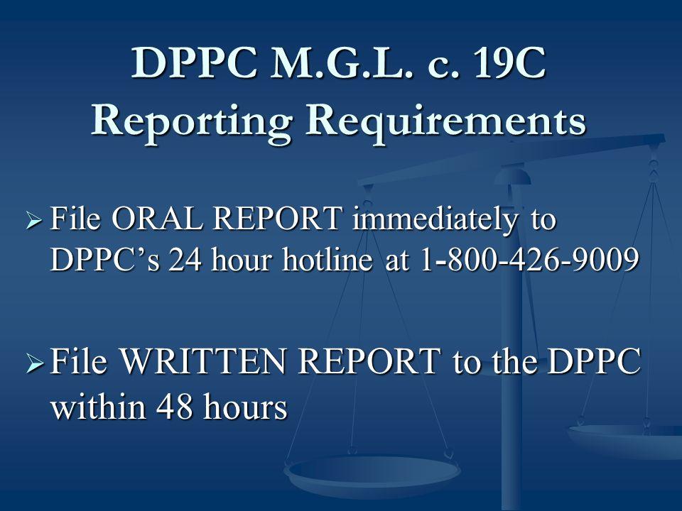 DPPC M.G.L. c.