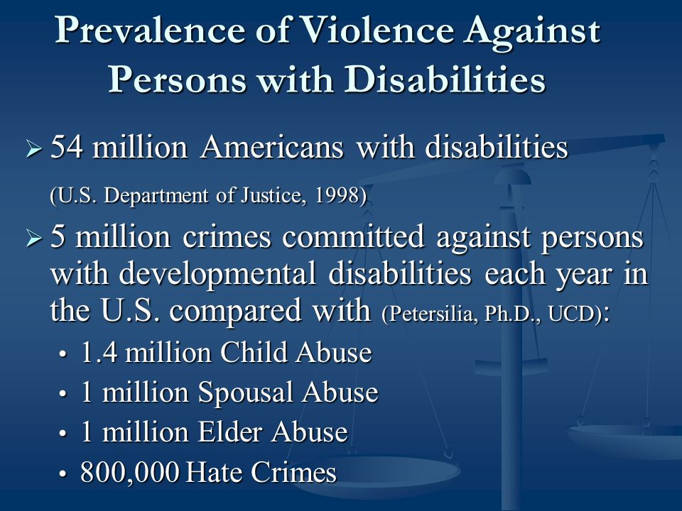 Reporting Abuse, Neglect and Mistreatment of Persons with Disabilities Pages 14 – 16
