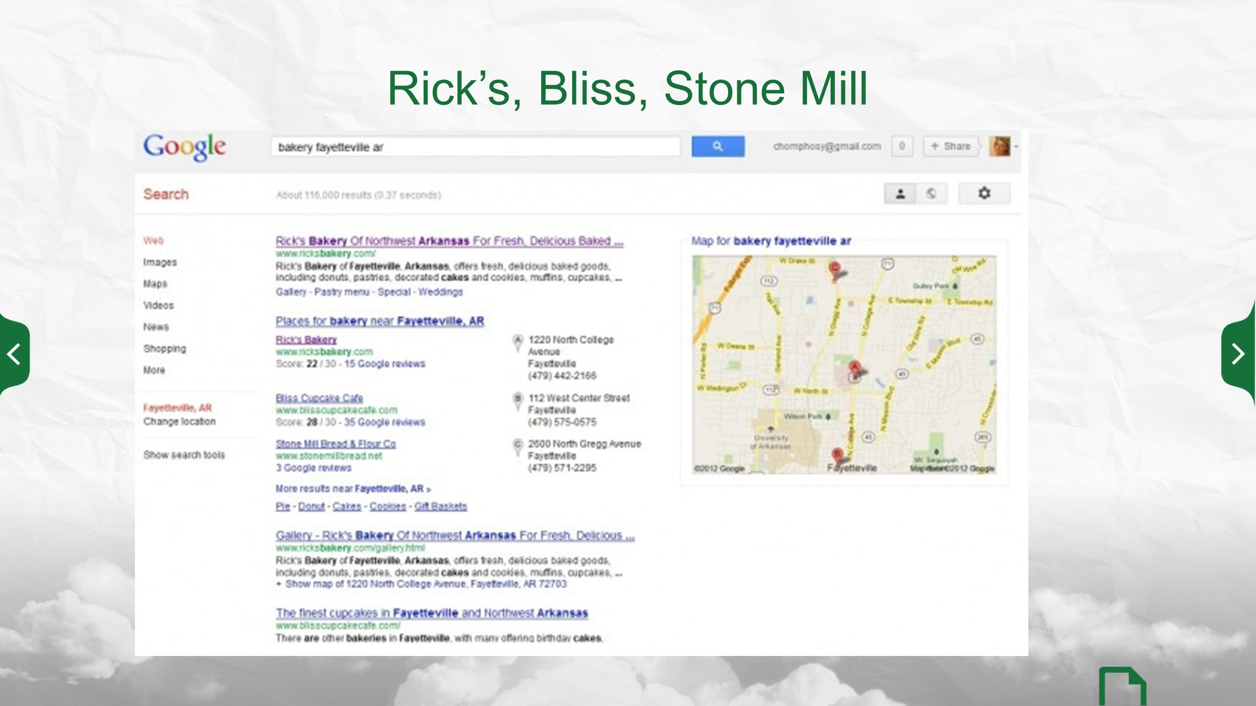Rick's, Bliss, Stone Mill