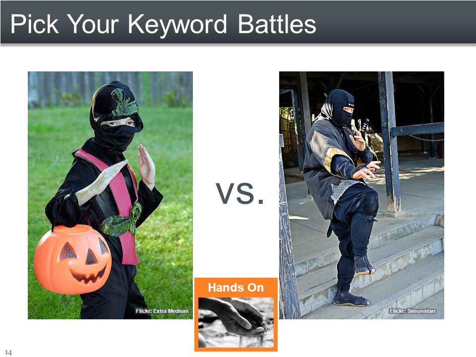 Pick Your Keyword Battles 14 vs. Hands On