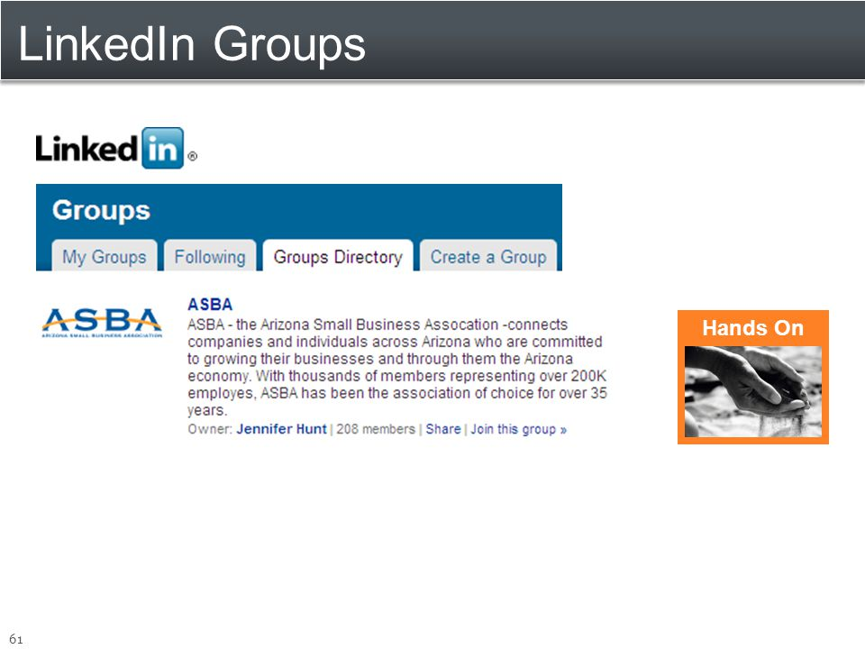 LinkedIn Groups 61 Hands On