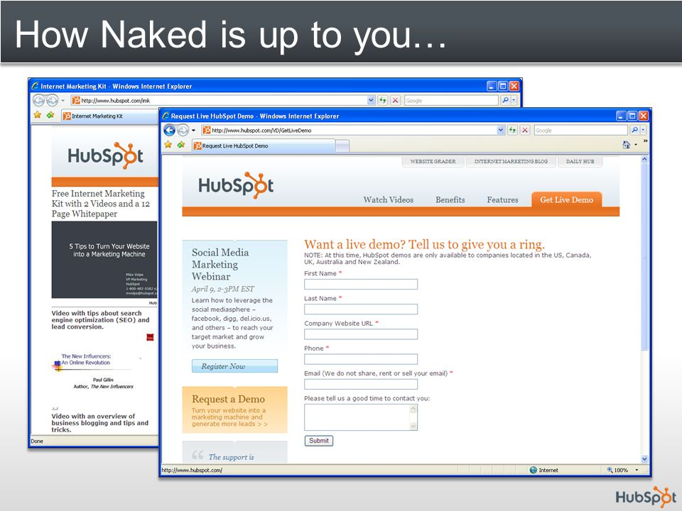 How Naked is up to you…