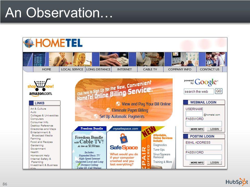 An Observation…