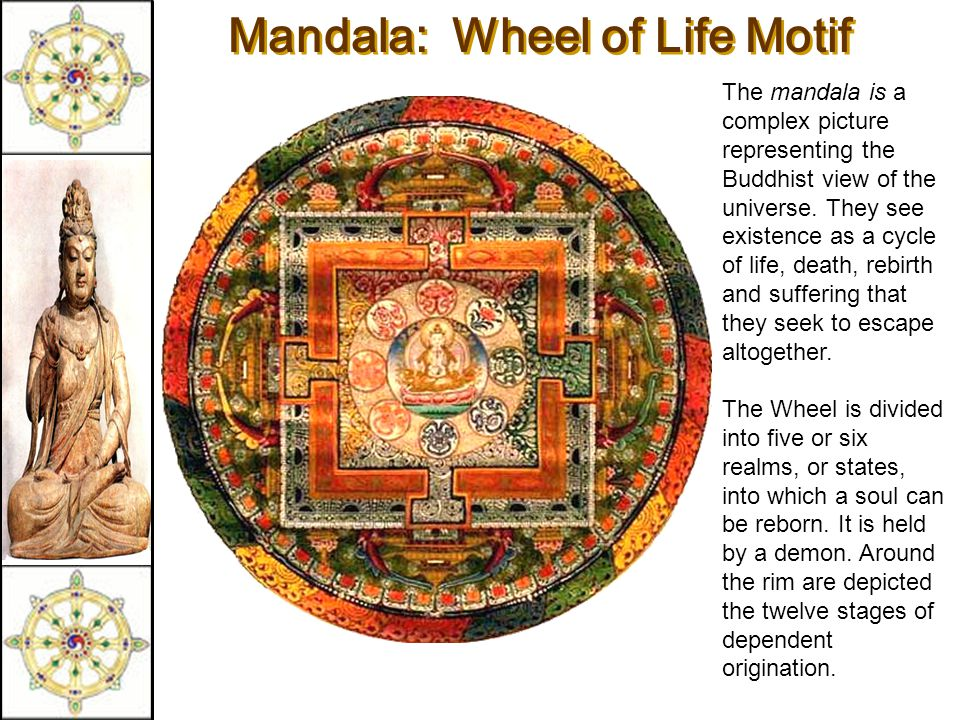 Mandala: Wheel of Life Motif Mandala: Wheel of Life Motif