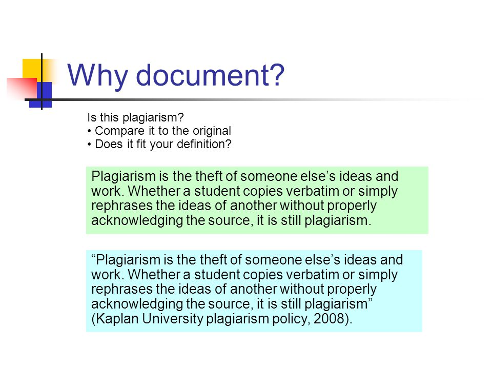 Why document. Is this plagiarism. Compare it to the original Does it fit your definition.