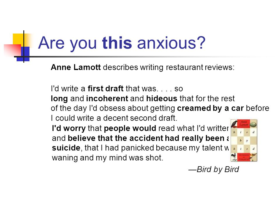 Are you this anxious.