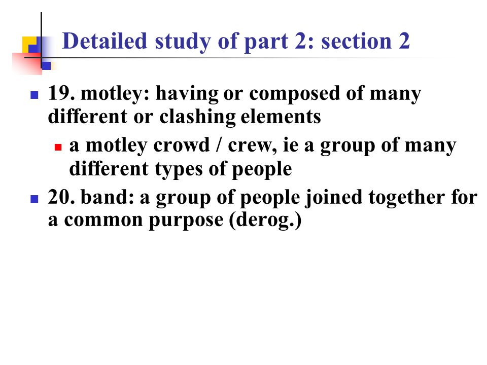 Detailed study of part 2 : section 2 make acquaintance of sb.