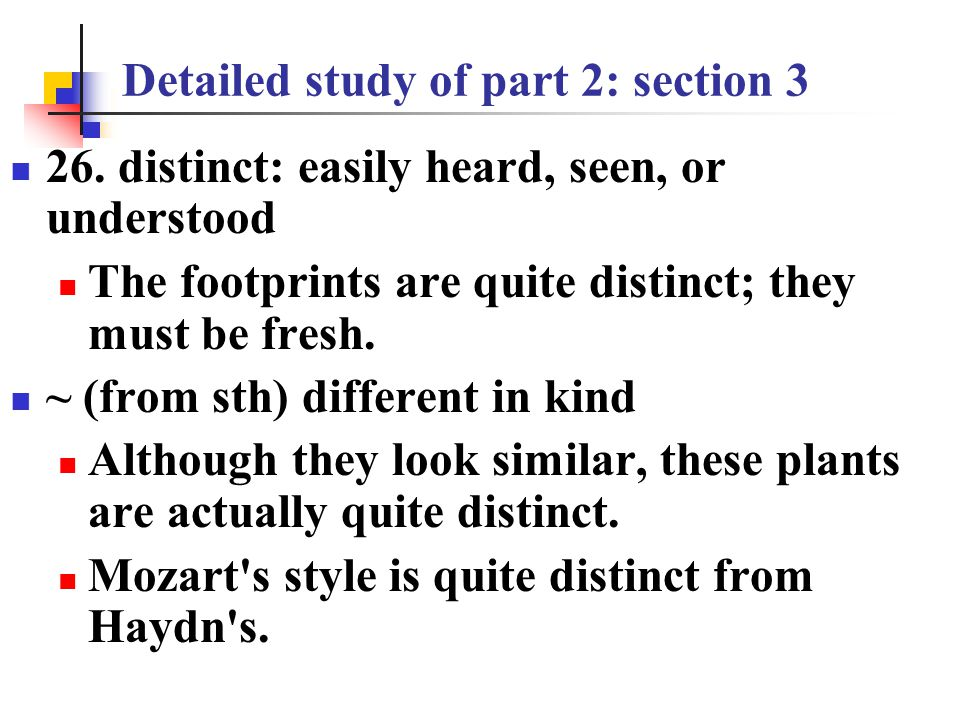 Detailed study of part 2: section 3 23.
