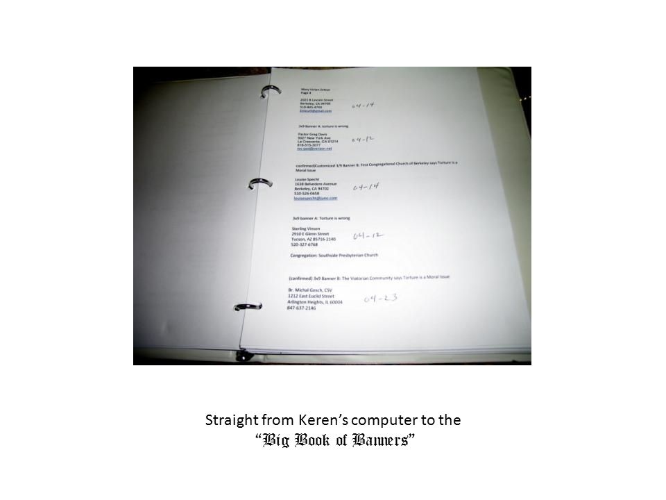 """Straight from Keren's computer to the """"Big Book of Banners"""""""