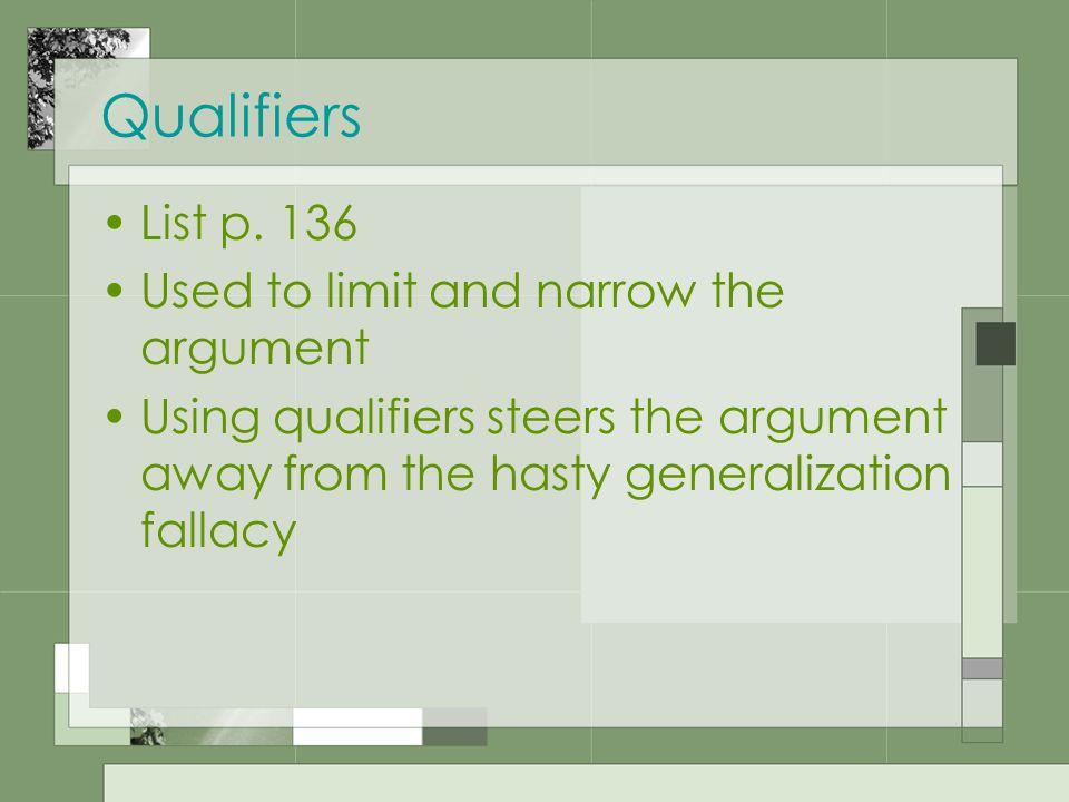 Qualifiers List p.