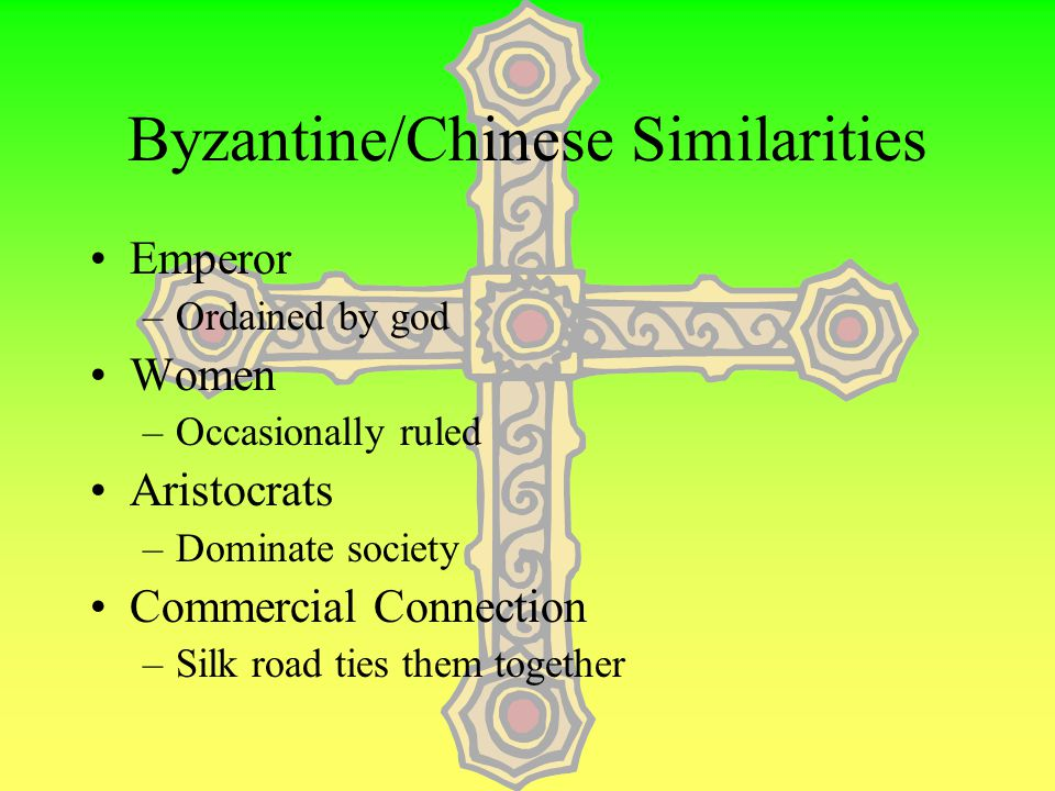 Byzantine Empire Established by Constantine –4 th Century @ Constantinople Christian Emperor Language –Greek (would become a big issue) –Language of c