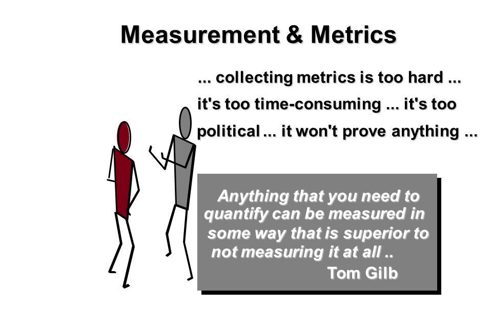 5 Measurement & Metrics... collecting metrics is too hard...