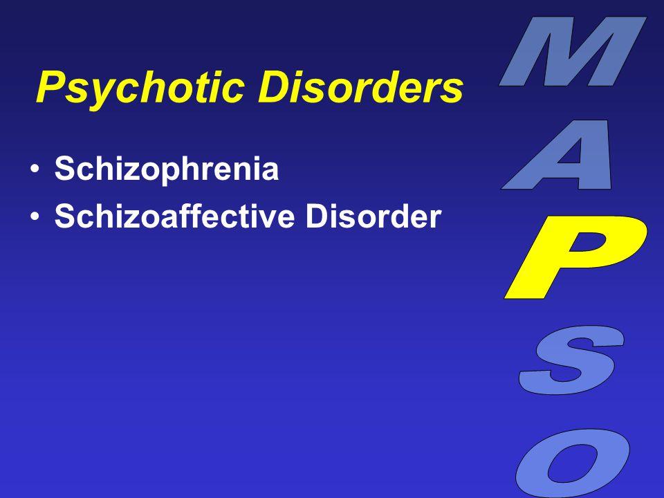 Psychotic Disorders Schizophrenia Schizoaffective Disorder