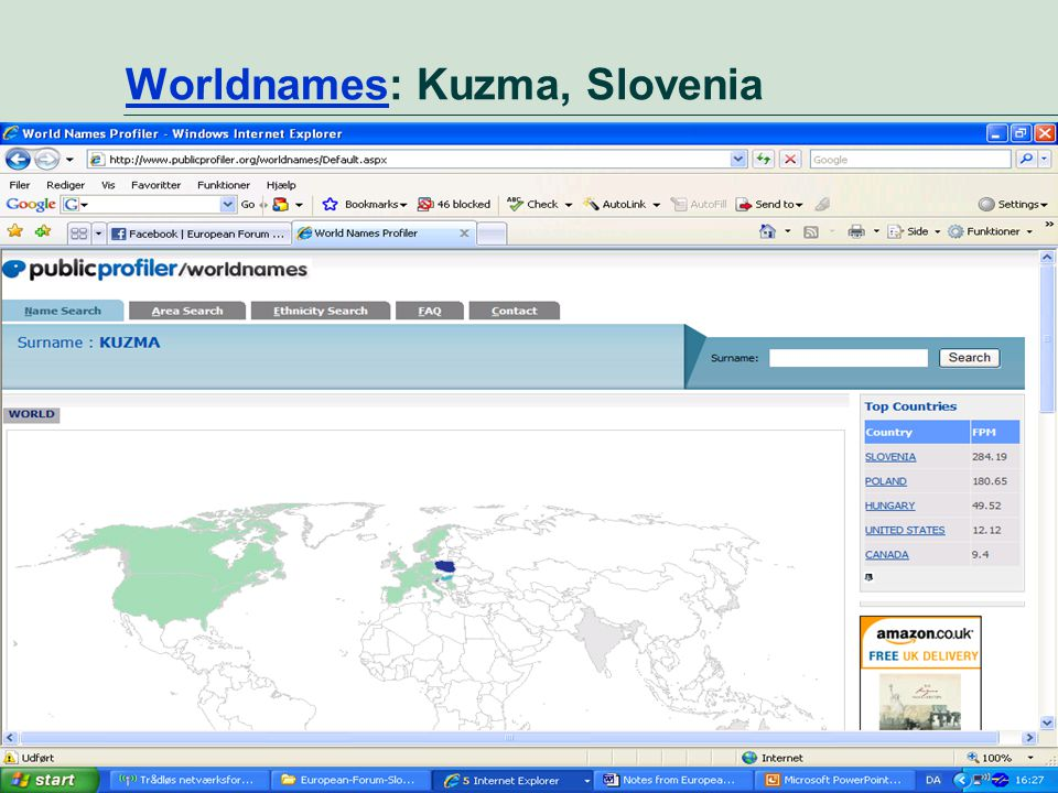 Market perspective - user needs 21 WorldnamesWorldnames: Kuzma, Slovenia