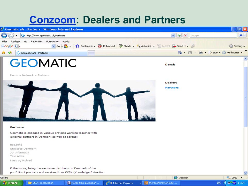Market perspective - user needs 39 ConzoomConzoom: Dealers and Partners