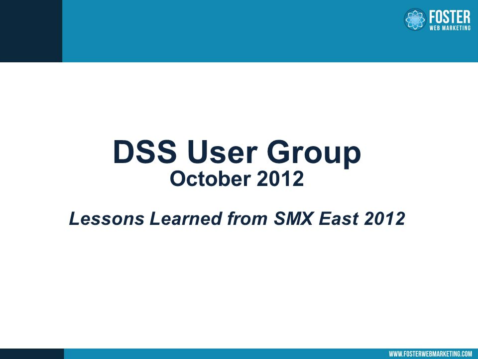 SMX – Where is SEO going in 2013.SEO is just a component of marketing – it should not stand alone.