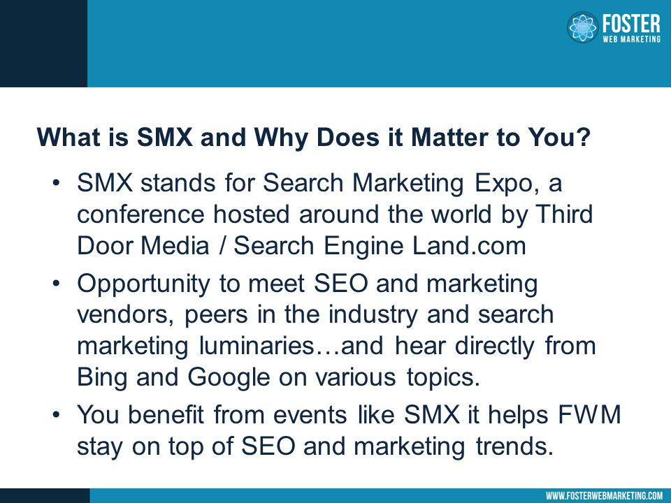 SMX – What Search Engines Care About Overwhelming response from Google, Bing and search experts: QUALITY CONTENT.