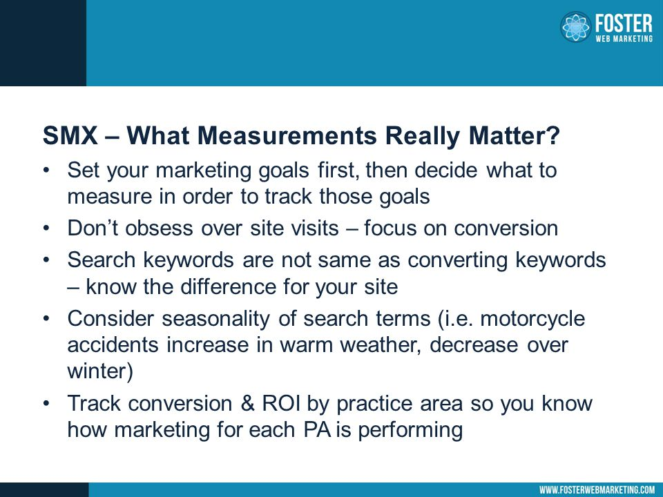 SMX – What Measurements Really Matter.