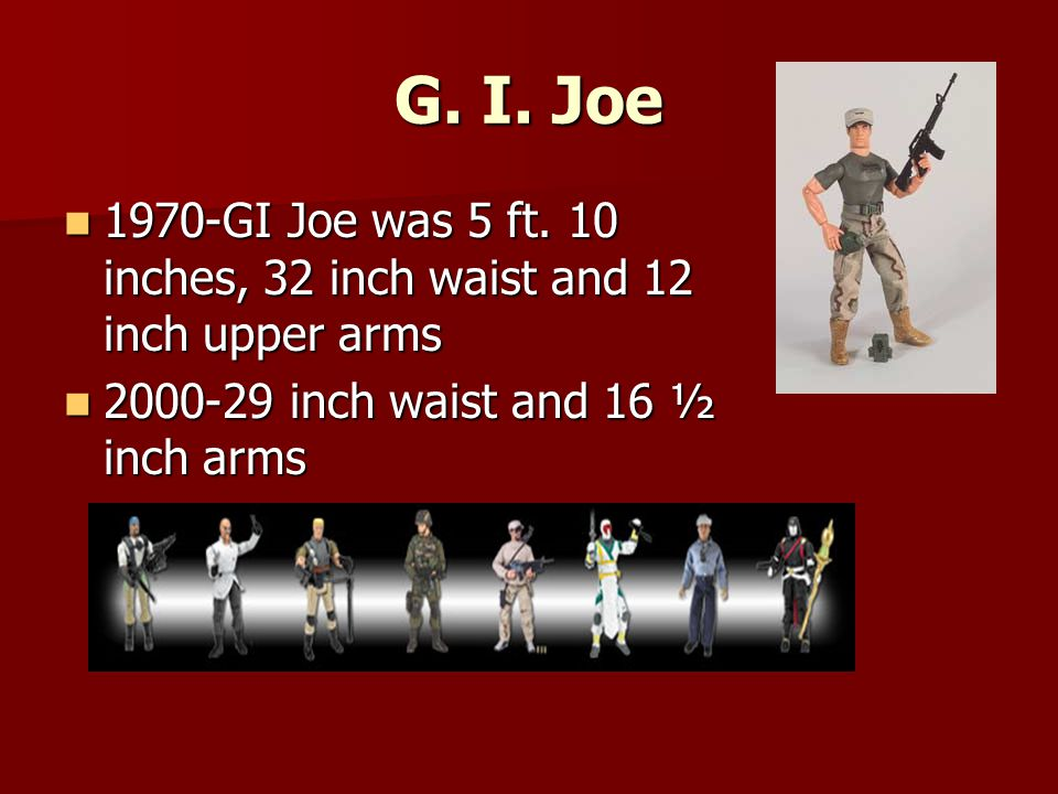 G. I. Joe 1970-GI Joe was 5 ft.