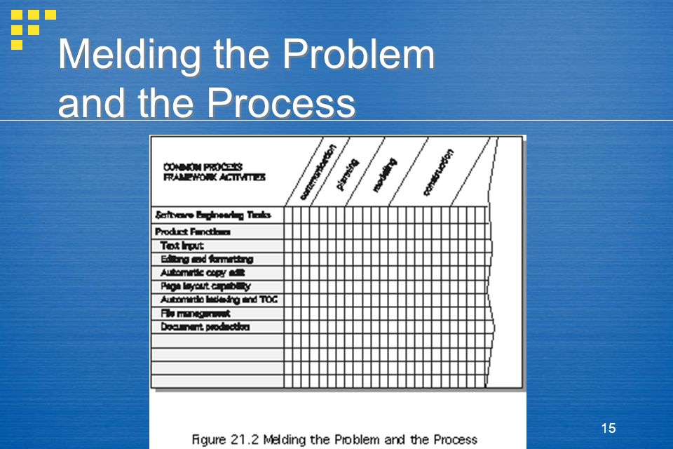 15 Melding the Problem and the Process