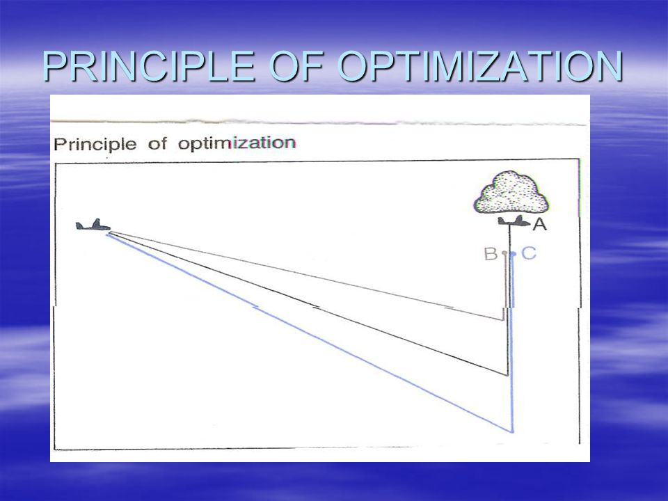 PRINCIPLE OF OPTIMIZATION
