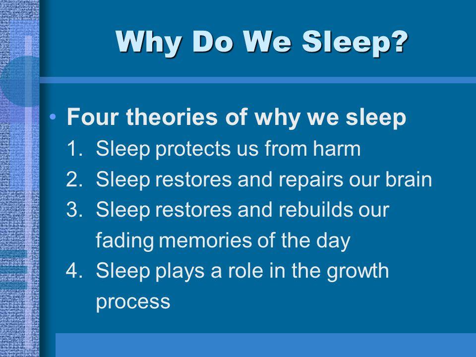 Why Do We Sleep. Four theories of why we sleep 1.