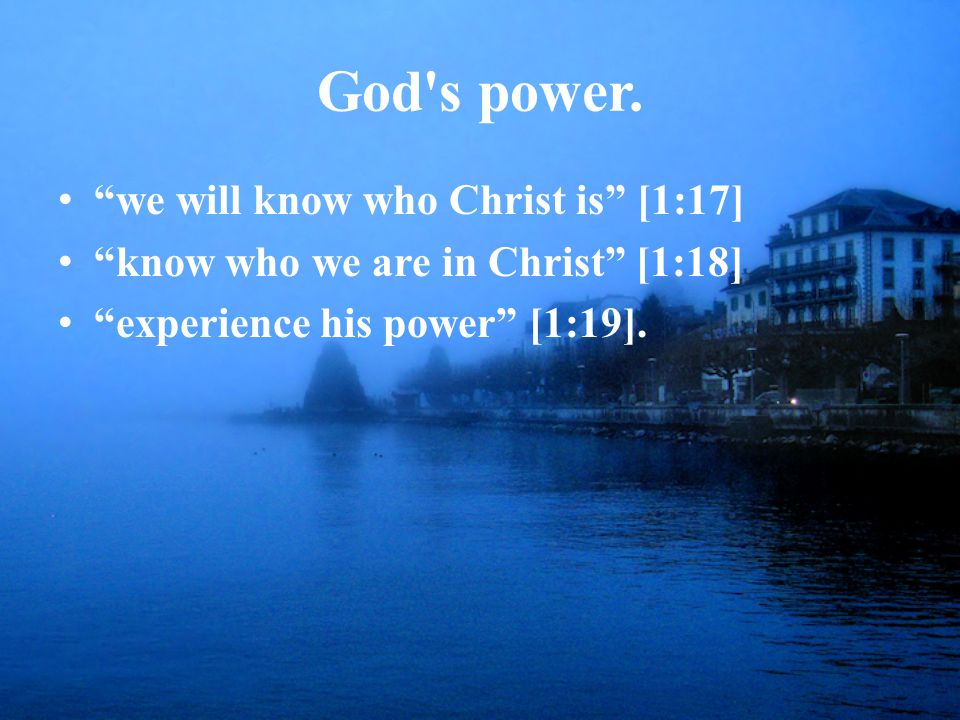 God s power.