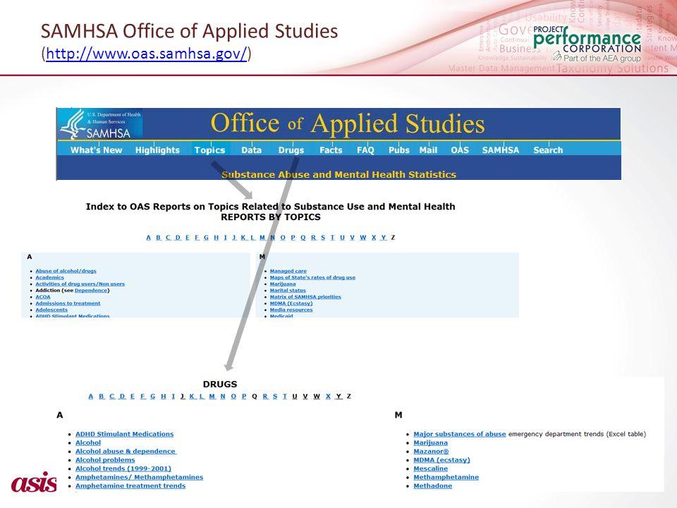 SAMHSA Office of Applied Studies (http://www.oas.samhsa.gov/)http://www.oas.samhsa.gov/