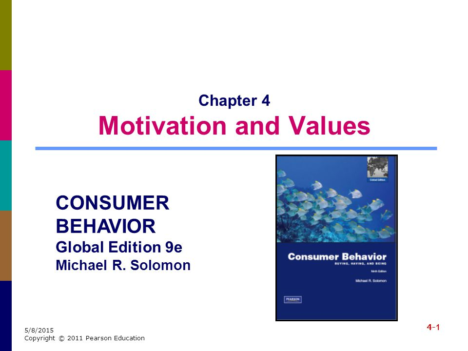 4-2 5/8/2015 Copyright © 2011 Pearson Education Learning Objectives When you finish this chapter, you should understand why: It's important for marketers to recognize that products can satisfy a range of consumer needs.
