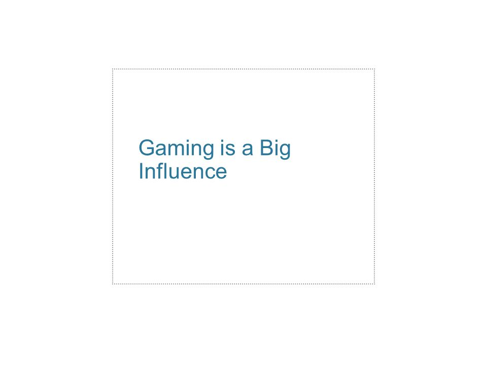 Gaming is a Big Influence