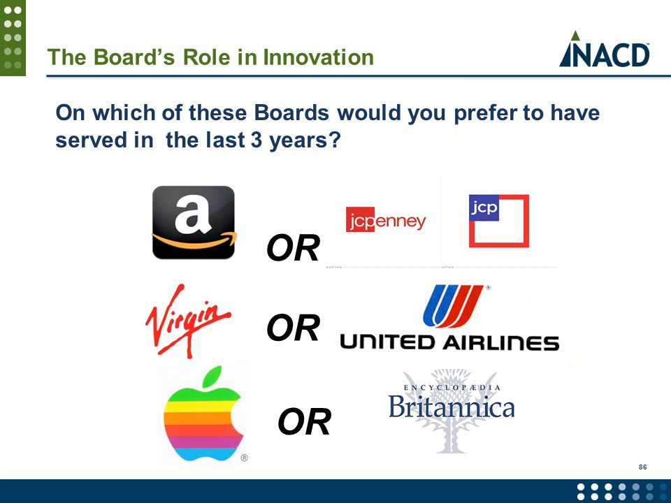 On which of these Boards would you prefer to have served in the last 3 years.