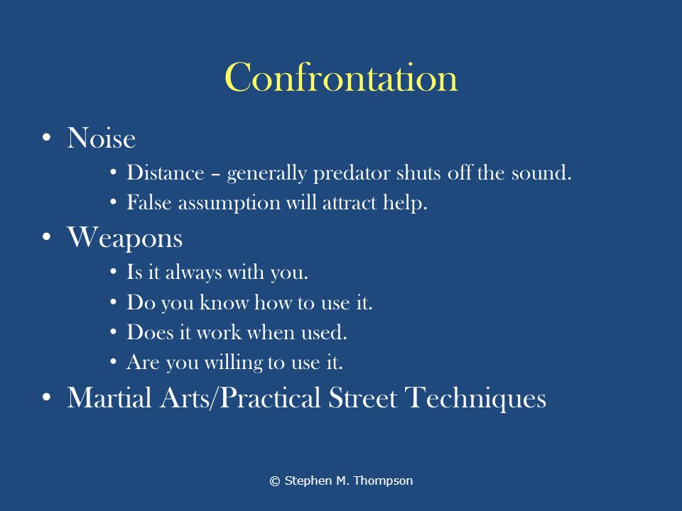 Confrontation Noise Distance – generally predator shuts off the sound.