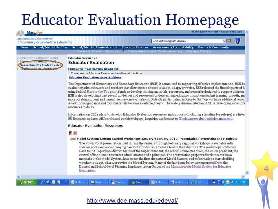 25 An example Massachusetts Department of Elementary and Secondary Education