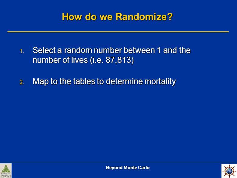 Beyond Monte Carlo How do we Randomize. 1.