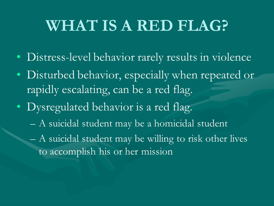 WHAT IS A RED FLAG.
