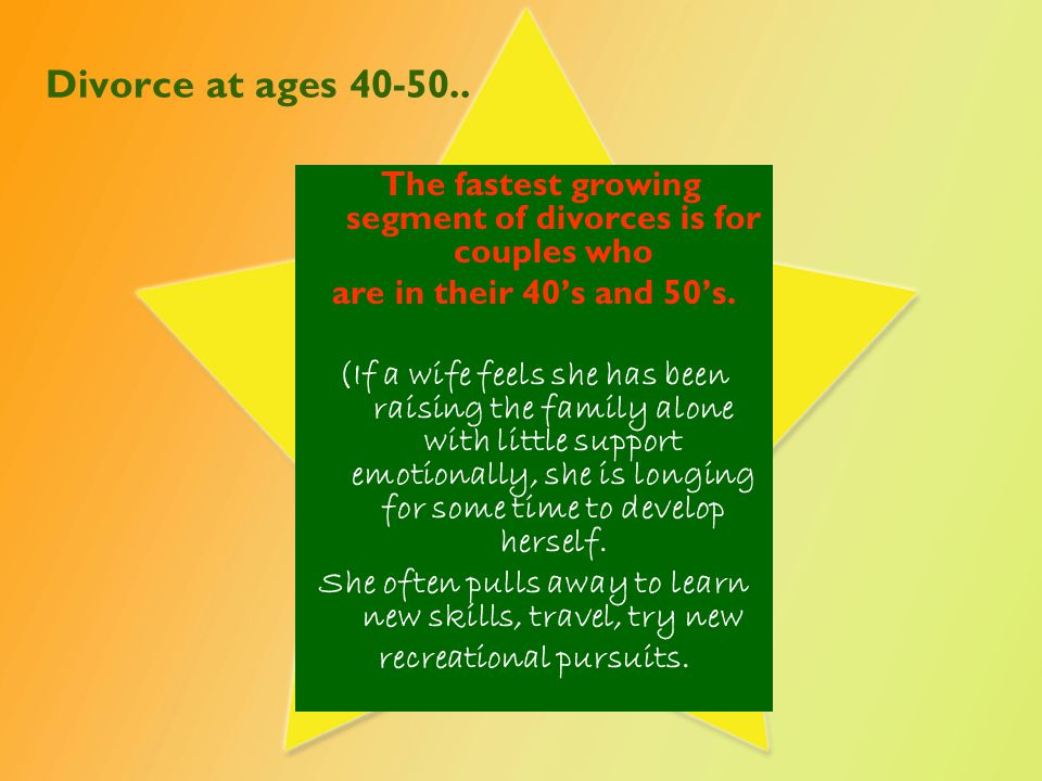 Divorce at ages 40-50..
